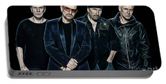 U2 Collection Portable Battery Charger by Marvin Blaine