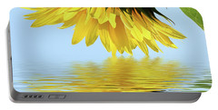 Nice Sunflower Portable Battery Charger by Elvira Ladocki