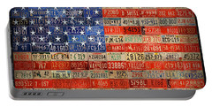 50 Plates One Union Recycled License Plate American Flag Portable Battery Charger
