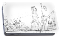 5.2.japan-1-tokyo-skyline Portable Battery Charger by Charlie Szoradi