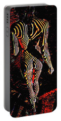 5360s-mak Abstract Zebra Striped Woman Strong Shoulders Portable Battery Charger