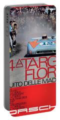 54th Targa Florio Porsche Race Poster Portable Battery Charger