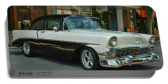 '56 Chevy Hot Rod Portable Battery Charger by Victor Montgomery