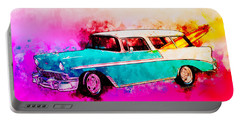 56 Chevy Nomad By The Sea In The Morning With Vivachas Portable Battery Charger