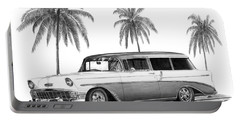 56 Chevy Wagon Portable Battery Charger by Peter Piatt