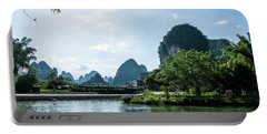 Lijiang River And Karst Mountains Scenery Portable Battery Charger