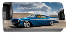 Portable Battery Charger featuring the digital art '57 Chevy Custom by Douglas Pittman