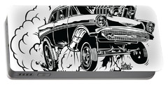 '57 Gasser Cartoon Portable Battery Charger