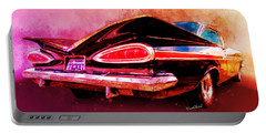 59 Chevy Ticket To Ride Watercolour Portable Battery Charger