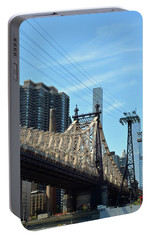 59th Street Bridge No. 4 Portable Battery Charger by Sandy Taylor