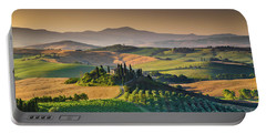 A Morning In Tuscany Portable Battery Charger by JR Photography