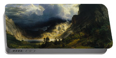 A Storm In The Rocky Mountains, Mt. Rosalie Portable Battery Charger