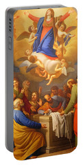 Portable Battery Charger featuring the painting Angels by Munir Alawi
