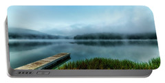 Autumn Mist On Lake Portable Battery Charger