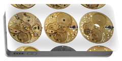 Clockwork Mechanism Portable Battery Charger by Michal Boubin