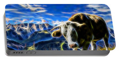 Cow Portable Battery Charger by Marvin Blaine