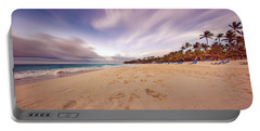 Portable Battery Charger featuring the photograph Dominicana Beach by Peter Lakomy