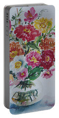 Floral Still Life Portable Battery Charger by Alexandra Maria Ethlyn Cheshire