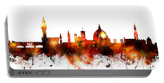 Florence Italy Skyline Portable Battery Charger by Michael Tompsett