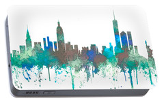 Portable Battery Charger featuring the digital art New York Ny Skyline by Marlene Watson