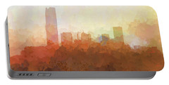 Portable Battery Charger featuring the digital art Oklahoma City Oklahoma Skyline by Marlene Watson
