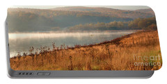 Portable Battery Charger featuring the photograph One Autumn Day At Ognyanovo Dam by Jivko Nakev