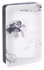 Pheasants Portable Battery Charger by Archibald Thorburn