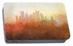Portable Battery Charger featuring the digital art Pittsburgh Pennsylvania Skyline by Marlene Watson