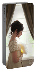 Regency Woman At The Window Portable Battery Charger