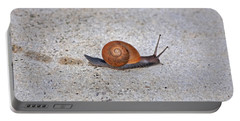 Portable Battery Charger featuring the photograph 6- Snail by Joseph Keane