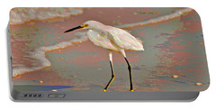 Portable Battery Charger featuring the photograph 6- Snowy Egret by Joseph Keane