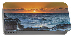 Sunrise Seascape With Sun Portable Battery Charger