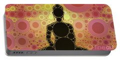 The Buddha, Pop Art By Mary Bassett Portable Battery Charger