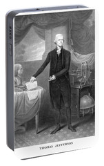 Thomas Jefferson Portable Battery Charger by War Is Hell Store