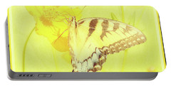 Tiger Swallowtail Butterfly On Cosmos Flower Portable Battery Charger