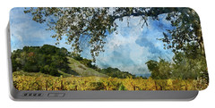 Vineyard In Napa Valley California Portable Battery Charger