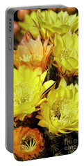 Yellow Cactus Flowers Portable Battery Charger by Jim And Emily Bush