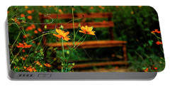 Galsang Flowers In Garden Portable Battery Charger