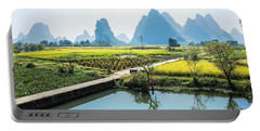 Rice Fields Scenery In Autumn Portable Battery Charger