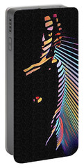 6580s-nlj Woman In Shadows By Window Zebra Striped Rendered In Composition Style Portable Battery Charger