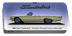 Portable Battery Charger featuring the digital art 66 T-bird Display Piece by Douglas Pittman