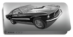 69 Mach1 In Black And White Portable Battery Charger