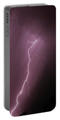 7-17-16 Lighting Storms Portable Battery Charger by Elaine Malott