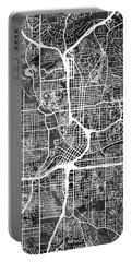 Atlanta Georgia City Map Portable Battery Charger by Michael Tompsett