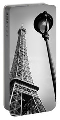 Portable Battery Charger featuring the photograph Eiffel Tower by Chevy Fleet