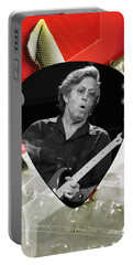 Eric Clapton Art Portable Battery Charger by Marvin Blaine
