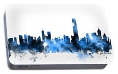 Hong Kong Skyline Portable Battery Charger by Michael Tompsett