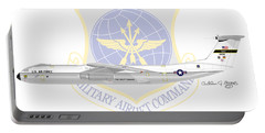 Portable Battery Charger featuring the digital art Lockheed C-141a Starlifter by Arthur Eggers