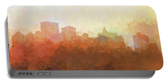 Portable Battery Charger featuring the digital art Oakland California Skyline by Marlene Watson