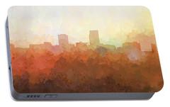 Portable Battery Charger featuring the digital art Omaha Nebraska Skyline by Marlene Watson